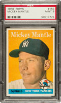 Baseball Cards:Singles (1950-1959), 1958 Topps Mickey Mantle #150 PSA Mint 9 - None Higher! ...