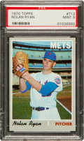 Baseball Cards:Singles (1970-Now), 1970 Topps Nolan Ryan #712 PSA Mint 9 - Only One Higher. ...