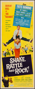 "Movie Posters:Rock and Roll, Shake, Rattle and Rock (American International, 1956). Insert (14"" X 36""). Rock and Roll.. ..."