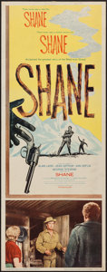 "Movie Posters:Western, Shane (Paramount, R-1959). Insert (14"" X 36""). Western.. ..."