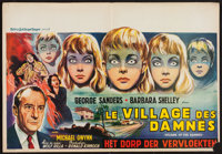 "Village of the Damned (MGM, 1960). Belgian (15"" X 21.5""). Science Fiction"
