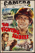 "Movie Posters:War, The Fighting Seabees (Republic, late 1940s). Belgian (14"" X21.25""). War.. ..."