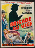 """Movie Posters:Crime, Vice Squad (United Artists, 1953). Belgian (14"""" X 19.25""""). Crime.. ..."""