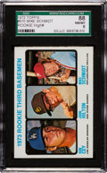 Baseball Cards:Singles (1970-Now), 1973 Topps Mike Schmidt/Cey Rookie #615 SGC 88 NM/MT 8....