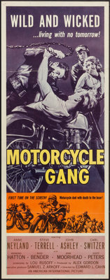 "Motorcycle Gang (American International, 1957). Insert (14"" X 36""). Exploitation"