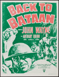 "Movie Posters:War, Back to Bataan (RKO, R-1950s). Military Poster (18.5"" X 24.5"").War.. ..."