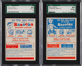 Baseball Cards:Singles (1950-1959), 1957 Topps Contest Card, May 4 and May 25 SGC 88 NM/MT 8 Pair -Both Pop One, None Higher! ...