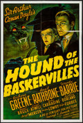 "Movie Posters:Mystery, The Hound of the Baskervilles (20th Century Fox, R-1970s). One Sheet (24.5"" X 36.5""). Mystery.. ..."