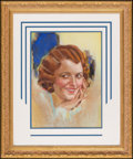 "Movie Posters:Miscellaneous, Janet Gaynor by Modest Stein (Modest Stein, 1931). Unsigned Pastel Original Artwork on Board (16.5' X 12"") (Framed Under Gla..."