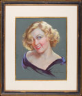 "Movie Posters:Miscellaneous, Marion Davies by Mila Blaine (Mila Blaine, early 1930s). Signed Original Art, Pastel on Board (20.5"" X 17"") (Framed to 32"" X..."