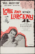 """Movie Posters:Comedy, Love and Larceny & Other Lot (Major Film Distributing, 1963). One Sheets (2) (27"""" X 41""""). Comedy.. ... (Total: 2 Items)"""