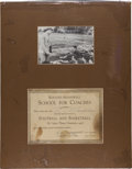 Football Collectibles:Others, 1926 Knute Rockne and Walter Meanwell Multi Signed Coaching School Certificate....