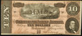 "Confederate Notes:1864 Issues, ""Representing Nothing on God's Earth Now"" Poem T68 $10 1864 PF-31 Cr. 549.. ..."