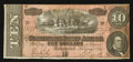 Confederate Notes:1864 Issues, Childrey Advertising Note T68 $10 1864 PF-39 Cr. UNL.. ...