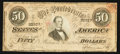 Confederate Notes:1864 Issues, Mann Advertising Note T66 $50 1864 PF-UNL Cr. 497.. ...