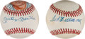 Autographs:Baseballs, 1980's Mickey Mantle & Ted Williams Single Signed Baseballs Lotof 2....