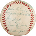 Autographs:Baseballs, 1954 Brooklyn Dodgers Team Signed Baseball....