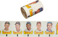 Baseball Cards:Sets, 1966 Topps Rub-Offs Uncut Roll With Koufax Showing. ...