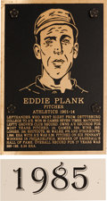 Baseball Collectibles:Others, 1985 Philadelphia Athletics Hall of Fame Plaque: Eddie Plank....