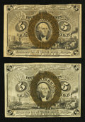 Fractional Currency:Second Issue, Fr. 1233 5¢ Second Issue Two Examples VF; XF.. ... (Total: 2 notes)