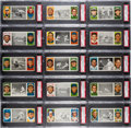Baseball Cards:Lots, 1912 T202 Hassan Triple Folder PSA-Graded Collection (15)...
