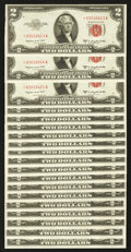 Small Size:Legal Tender Notes, Fr. 1511* $2 1953B Legal Tender Note. Nineteen Examples. Choice About Uncirculated or better.. ... (Total: 19 notes)
