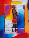 Basketball Collectibles:Others, 1990's Michael Jordan Signed Peter Max Lithograph....