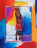 Basketball Collectibles:Others, 1990's Michael Jordan Signed Peter Max Lithograph with Remarque....