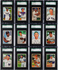 Baseball Cards:Sets, 1952 Bowman Baseball SGC-Graded Near Set (193/252). ...