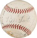 Autographs:Baseballs, 1934 American League All-Star Team Signed Baseball....