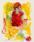 Baseball Collectibles:Photos, 1970 Johnny Bench Limited Edition Lithograph by LeRoy Neiman(Artist Signed)....