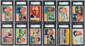 Baseball Cards:Lots, 1956 Topps Baseball SGC Graded Collection (115) With Mantle &Other HoFers. ...
