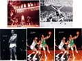 Basketball Collectibles:Photos, 2000's Bill Russell Signed Oversized Photographs Lot of 5....