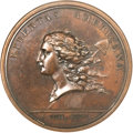 Colonials, (1781) MEDAL Libertas Americana Copper MS62 Brown NGC....