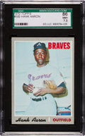 Baseball Cards:Singles (1970-Now), 1970 Topps Hank Aaron #500 SGC 86 NM+ 7.5....