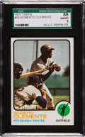 Baseball Cards:Singles (1970-Now), 1973 Topps Roberto Clemente #50 SGC 88 NM/MT 8....