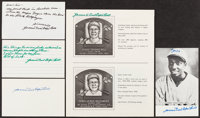 Cool Papa Bell Signed Lot of 5 Pieces and Unsigned Funeral Program