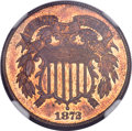 Two Cent Pieces, 1872 2C MS65 Red and Brown NGC. CAC. FS-101....