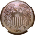 Proof Two Cent Pieces, 1873 2C Open 3 PR66 Brown NGC. CAC....