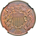 Two Cent Pieces, 1872 2C MS63 Brown NGC. FS-101....