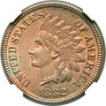 Indian Cents, 1882 1C Misplaced Date MS65 Red and Brown NGC. Snow-6, FS-401....