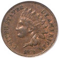 Indian Cents, 1873 1C Doubled LIBERTY, Closed 3 AU55 PCGS. Snow-1, FS-101....