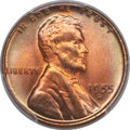Lincoln Cents, 1955-D 1C MS67 Red PCGS. CAC....