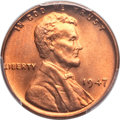 Lincoln Cents: , 1947 1C MS67 Red PCGS. CAC. PCGS Population: (27/0). NGC Census:(35/0). CDN: $1,350 Whsle. Bid for problem-free NGC/PCGS M...