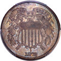 Two Cent Pieces, 1872 2C AU58 PCGS....