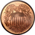Proof Two Cent Pieces, 1873 2C Open 3 PR63 Red PCGS....