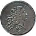 Large Cents, 1793 1C Wreath Cent, Vine and Bars -- Tooled -- PCGS Genuine. XFDetails. S-9, B-12, R.2....
