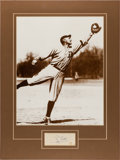 Autographs:Index Cards, 1950's Ty Cobb Signed Cut Signature Display....