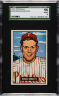 Baseball Cards:Singles (1950-1959), 1951 Bowman Robin Roberts #3 SGC 96 Mint 9 - Pop One, None Higher!...