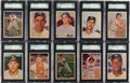 Baseball Cards:Lots, 1957 Topps Baseball High Grade SGC Collection (70) With HoFers andScarce Series. ...